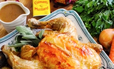 Roast Chicken with Sage and Parsley Stuffing
