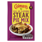 Colman's Steak Pie Recipe Mix 40g